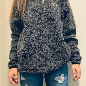 PINK Victoria Secret Jacket//Grey Coat//Fluffy